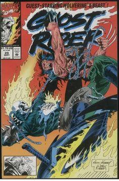 GHOST RIDER #29 Wolverine MARVEL COMICS 1992 great! VF+/NM