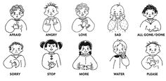 sign language words for kids | 13 Haziran 2013 Perşembe