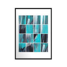 Abstract art print Squares 16x20