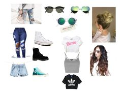 jaaajja by sinthia-michelle on Polyvore featuring moda, Topshop, adidas, Dr. Martens, Converse, H&M and Ray-Ban
