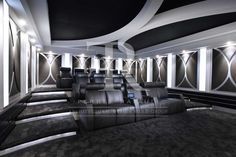 Home Theater Wall Design Ceiling Design, Wall Design, Cinema Room, Home Cinemas, Fireplace Design, Architecture Plan, Luxury Interior Design, Home Theater, Beautiful Homes