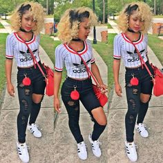 1. A typical school day- i Picked this outfit because I love adidas and this is something i would wear to school and my fav. color is red.