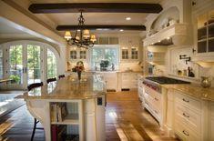 diseño cocina americana rustica - Buscar con Google