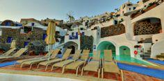 Santorini Hotels, Santorini Island, Virtual Tour, Villas, Habitats, Romance, Houses, Vacation, Traditional