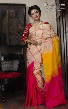 Pure Silk Checks Kanchipuram Saree
