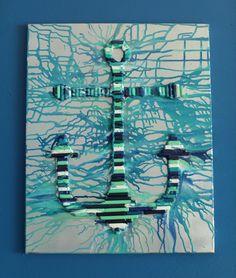 Anchor Crayon Art 16x20 Canvas by MyPopArtShop on Etsy, $50.00