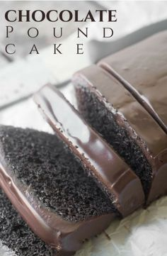 Rich moist and decadent Chocolate Pound Cake recipe with chocolate ganache is a chocolate lovers dream come true