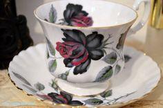 Royal Albert Rare Masquerade Rose Teacup And by TheTeacupAttic