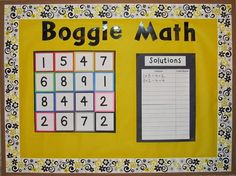 The Routty Math Teacher: Transformation Tuesday: Critical Thinking Activities- Math Boggle Board Math Boggle, Boggle Board, Fun Math, Math Games, Math Activities, Math Board Games, Math 2, Math Bulletin Boards, Math Boards