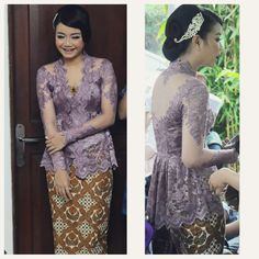#kebaya #modern #ungu #purple #tunangan #kartini #peplum