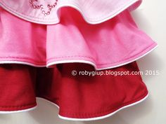 RobyGiup handmade: Una gonna di onde rosa - A skirt of pink waves
