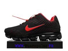 finest selection 5a1b1 7f2a3 Nike Air Vapormax 2018 Drop Chaussures De Course En Plastique Pas Cher Pour  Homme Rouge noir