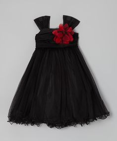 Look what I found on #zulily! Kid's Dream Black Flower Dress - Toddler & Girls by Kid's Dream #zulilyfinds