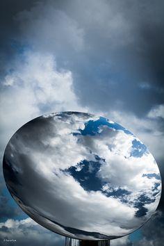 Sky Mirror Anish Kapoor - Versailles  oktober 2015