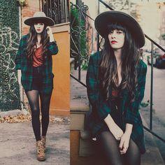 Rachel-Marie Iwanyszyn - Sorel Boots, Garage Clothing Plaid, Free People Hat - MEMORY LANE.