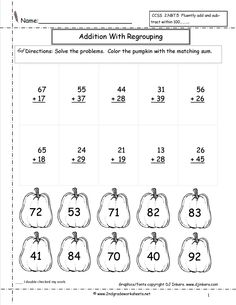 math worksheet : double digit addition with regrouping  worksheets : Double Digit Addition With Regrouping Worksheets 2nd Grade