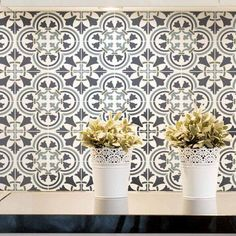 Portuguese tile stencils - Portugese and Spanish tile stencils for walls, stairs, floors, backslashes