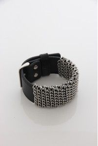 Bracelet for him with silver chains by OXXO design - M18B.