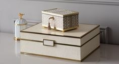 Buy Luxury Decorative Boxes Online at LuxDeco. Linley Jewellery Boxes. iWoodesign Jewellery Boxes, Ladies Jewellery Boxes, Stow London Jewellery Boxes - Luxury Decor