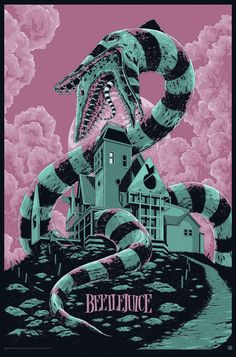 Beetlejuice Movie Poster by Ken Taylor