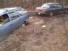cars in the mud