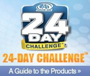 24 Day Challenge - have lost 8 lbs in two weeks, and have not felt better!  added bonus = My skin looks amazing at almost 40 years old!   www.advocare.com/130556526
