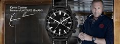 Kevin partners with Jacques Lemans on movies. Kevin Costner, Le Mans, Movies, Watches, Films, Wristwatches, Cinema, Clocks, Movie