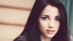 girl with long black hair and blue eyes - Google Search