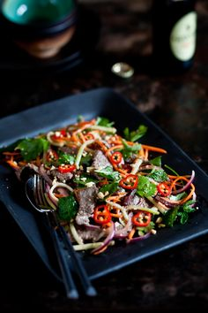 Thai Beef Salad. I could drink this cilantro lime dressing!