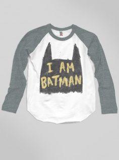 Kids Boys I'm Batman Raglan