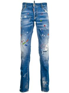Sexy Twist Painted Denim Jeans In Blue Jeans Pants, Denim Jeans, Paint Splatter Jeans, Denim Crafts, Low Rise Jeans, Baby Prints, Denim Fashion, Distressed Jeans, Stretch Denim