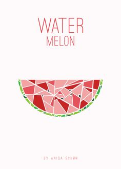 Items similar to Watermelon Poster on Etsy Body Art Tattoos, Cool Tattoos, Watermelon Tattoo, Watermelon Wallpaper, Watermelon Designs, Summer Poster, Logo Design, Graphic Design, Logo Inspiration