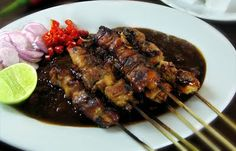 Madura Chicken Satay, Indonesian Food Recipes