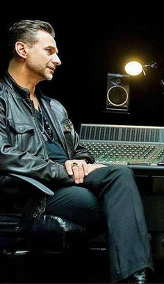 Dave Gahan of Depeche Mode,  in the studio