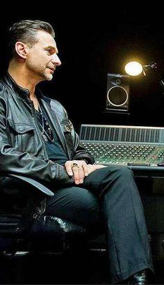 Dave Gahan of Depeche Mode,  in the studio