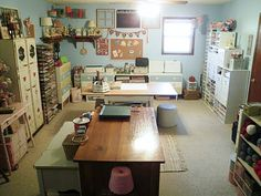craft space, art studio, studio space, organ, work space, craftroom, creativ space, crazi crafter, craft rooms