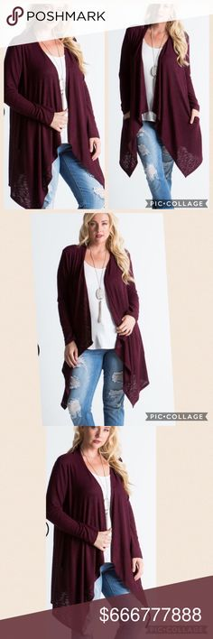 {Plus} COMING SOON COMING SOONNEW Plus size, Beautiful burgundy cardigan Sweaters Cardigans