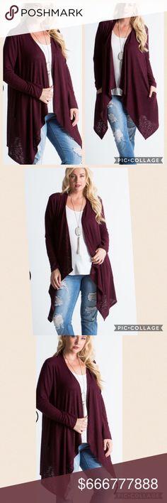 {Plus} COMING SOON COMING SOONNEW Plus size, Beautiful burgundy cardigan Sweaters Cardigans