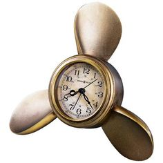 "Howard Miller Propeller 9"" Wide Alarm Clock | LampsPlus.com"