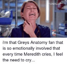 25 Best Grey's Anatomy Memes That Will Make You Feel All The Feels - - Seattle Grace hospital superfans unite! Greys Anatomy Funny, Greys Anatomy Couples, Greys Anatomy Characters, Greys Anatomy Facts, Grey Anatomy Quotes, Grays Anatomy, Greys Anatomy Season 4, Anatomy Humor, Meredith And Christina