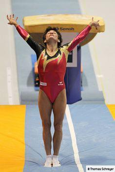 Oksana Chusovitina will represent Germany in the vault finals.  She qualified 4th.