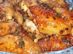 Basil chicken wings
