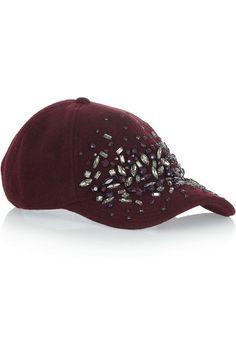 Embellished wool-blend felt baseball cap. Designer Baseball CapsBaseball  HatsBaseball MomSlouchy BeanieJ ... c7705fc50ed4