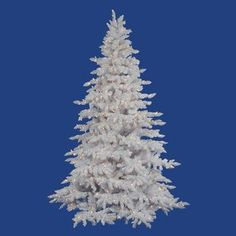 Vickerman Co. Flocked White Spruce 90'' Artificial Christmas Tree with Clear Lights