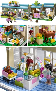 Lego Friends Heartlake Vet-I want this Toys For Girls, Kids Toys, Top Christmas Toys, Lego Friends Sets, Lego Craft, Lego Room, Lego Design, Lego Worlds, Lego House