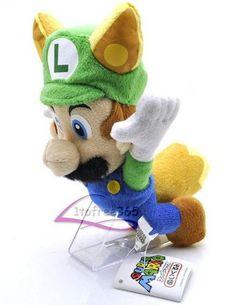 "Amazon.com: Super Mario Flying Raccoon Tanooki Green Mario Plush Toy Stuffed Toy 8"": Toys & Games"