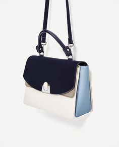 Image 2 of CONTRASTING CITY BAG from Zara