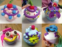 Art Projects for Kids: Model Magic Cupcakes Model Magic, 3d Art Projects, Projects For Kids, Kids Crafts, Sculpture Projects, Art Sculptures, Magic Crafts, Drawing Lessons For Kids, Cupcake Art