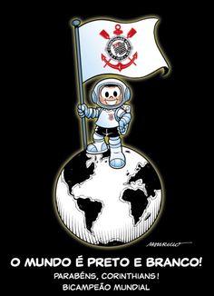 O mundo é preto e branco! - homenagem de Maurício de Sousa ao Timão