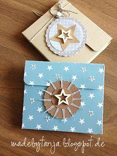 made by Tanja : N° 113 DIY Merci-Box * einfach toll, für 5 Merci's, aus einem Stück, deckel hält hinter dem grossen Rund